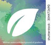 leaf icon. one of set web icons