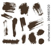 ink blots  stains  paint... | Shutterstock .eps vector #304480520