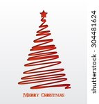 christmas background. christmas ... | Shutterstock .eps vector #304481624
