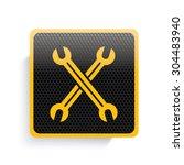 repair icon design yellow...