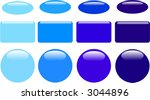 series of blue glass web buttons | Shutterstock .eps vector #3044896