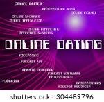 online dating indicating world... | Shutterstock . vector #304489796