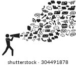 megaphone social media marketing | Shutterstock .eps vector #304491878