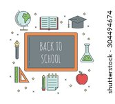 school banners templates with... | Shutterstock .eps vector #304494674