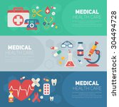 medical banners templates in... | Shutterstock .eps vector #304494728