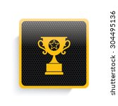 trophy icon design yellow...