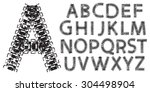 Vector Alphabet Letters Made...