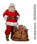 full length portrait of a santa ...   Shutterstock . vector #304502303