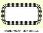 locomotive railroad track frame ... | Shutterstock .eps vector #304508066