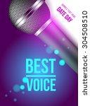 microphone  best voice  banner... | Shutterstock .eps vector #304508510