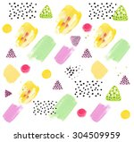 abstract acrylic hand painted... | Shutterstock . vector #304509959