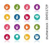 hand icons   Shutterstock .eps vector #304511729