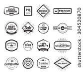 set of vintage style premium... | Shutterstock .eps vector #304520870