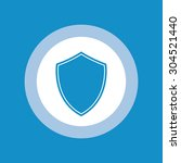 shield icon in circle with blue ... | Shutterstock .eps vector #304521440