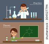 science and education ... | Shutterstock .eps vector #304527794