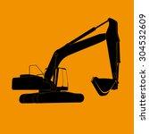 excavator work.  illustration  | Shutterstock . vector #304532609