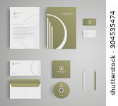 stationery template with real... | Shutterstock .eps vector #304535474