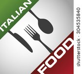 restaurant menu italian food | Shutterstock .eps vector #304535840