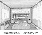 sketch of interior | Shutterstock .eps vector #304539929