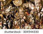 beautiful venetian masks... | Shutterstock . vector #304544330