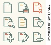 document web icons   Shutterstock .eps vector #304547228