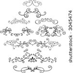 ornaments 4 vector illustration | Shutterstock .eps vector #3045474