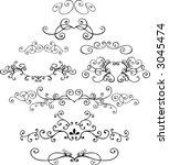 ornaments 4 vector illustration   Shutterstock .eps vector #3045474