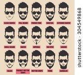 illustration with men beard... | Shutterstock .eps vector #304549868