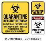 set of sign biohazard...   Shutterstock .eps vector #304556894