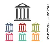 historical building icon set ...   Shutterstock .eps vector #304559900