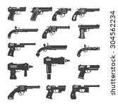 set of vector guns  handguns