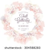 fall gathering invitation... | Shutterstock .eps vector #304588283