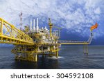 oil and gas platform or... | Shutterstock . vector #304592108