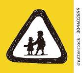 kid sign doodle | Shutterstock . vector #304602899