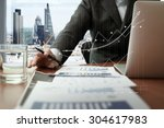 business documents on office... | Shutterstock . vector #304617983