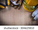 hammer safety glasses... | Shutterstock . vector #304625810