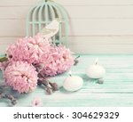 background  with hyacinths  ... | Shutterstock . vector #304629329