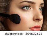 Beautiful Woman Face Powders ...