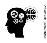 brain gears symbol concept for... | Shutterstock .eps vector #304636964