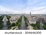 champs elysees to la defense... | Shutterstock . vector #304646300