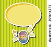 easter painting egg  cartoon... | Shutterstock . vector #304646876