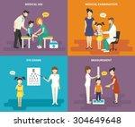 family healthcare medical care... | Shutterstock .eps vector #304649648