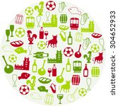 portuguese icons | Shutterstock .eps vector #304652933