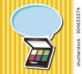 cosmetics  cartoon speech icon | Shutterstock . vector #304653374