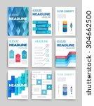 template. vector brochure... | Shutterstock .eps vector #304662500