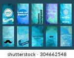 template. set of poster  flyer  ... | Shutterstock .eps vector #304662548