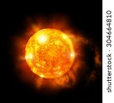 An Image Of A Detailed Sun In...