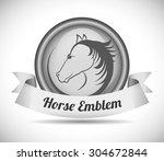 horse riding digital design ... | Shutterstock .eps vector #304672844