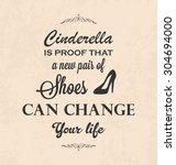funny typographic poster design ... | Shutterstock .eps vector #304694000