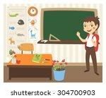 back to school vector... | Shutterstock .eps vector #304700903